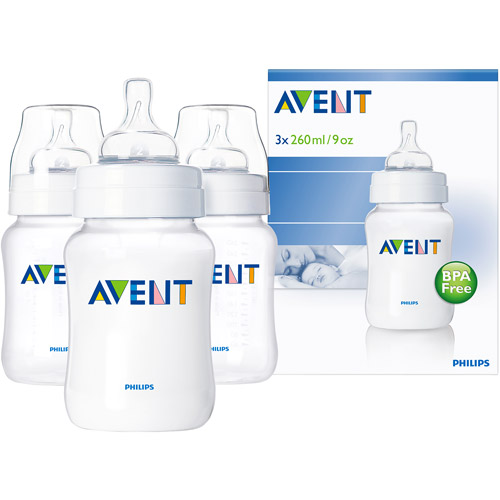 Philips AVENT SCF683/37 BPA Free Classic 9 Ounce Polypropylene Bottles, 3-Pack