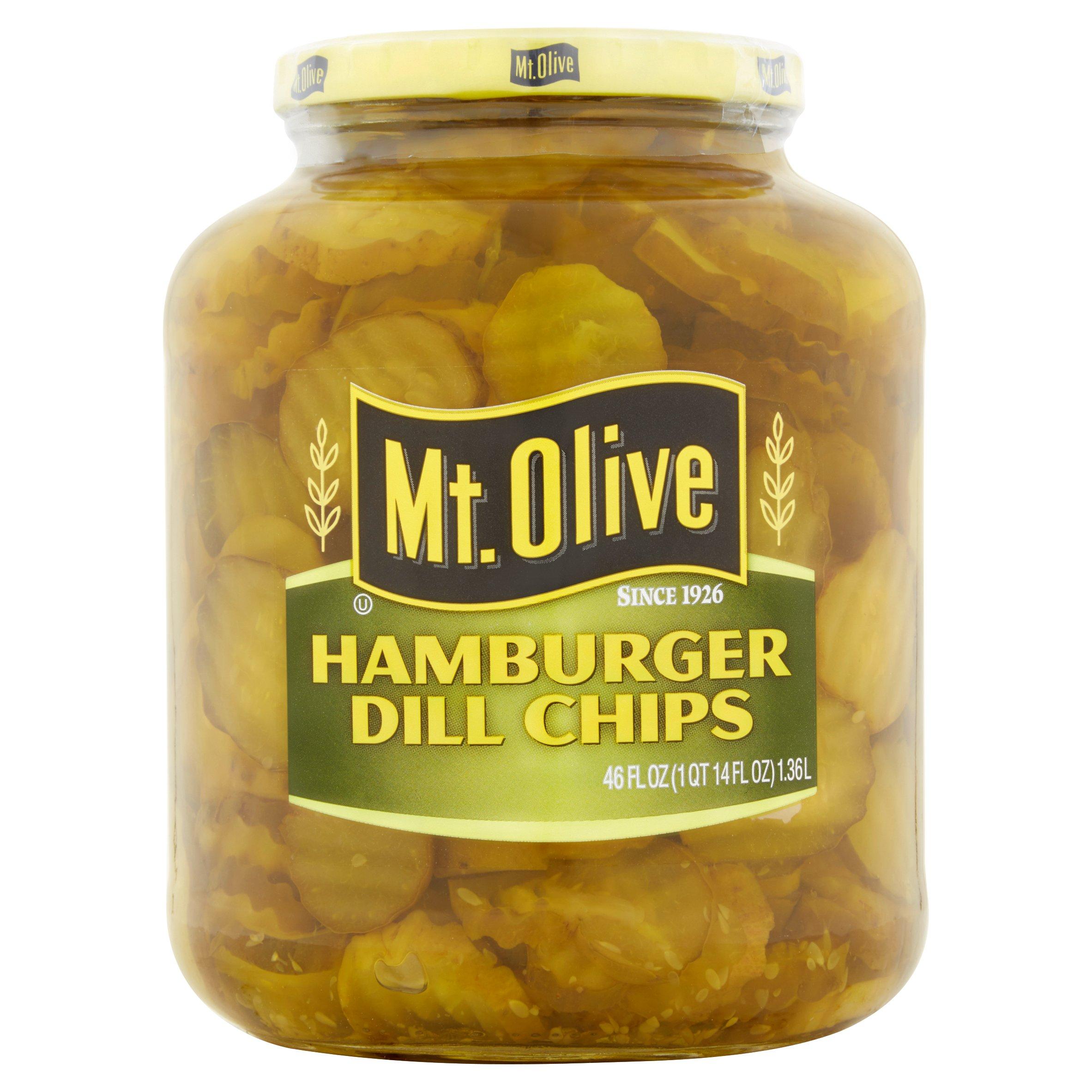 Mt. Olive Hamburger Dill Chips Pickles, 46 oz by Mt. Olive Pickle Company, Inc / Corner of Cucumber & Vine