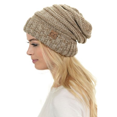 CC - Womens CC Oversized Baggy Thick Warm Cap Hat Skully Cable Knit Slouchy  Beanie - Walmart.com 047841274