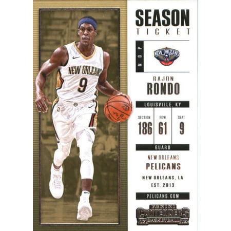 Moms Ball New Orleans Halloween (2017-18 Panini Contenders Season Ticket #82 Rajon Rondo New Orleans Pelicans Basketball)