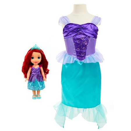 Disney Princess Toddler Doll and Dress Gift Set, Ariel