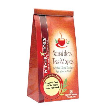 Botanic Choice Fenugreek Seed Tea Bags - 36 count,36 tea