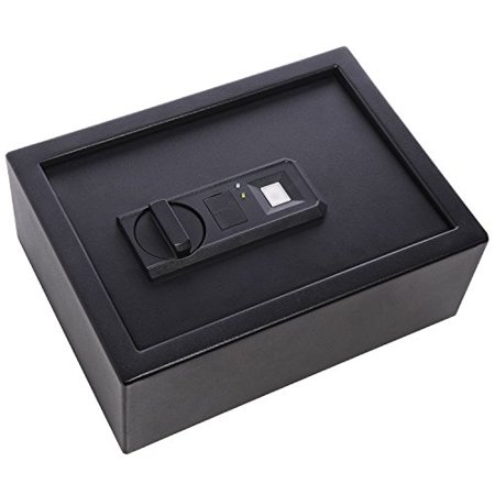 Ivation Biometric Digital Drawer Safe  4.37 x 11.8 x 8.6 Home Security Box With Fingerprint Lock, Backup Keys & Mounting Kit
