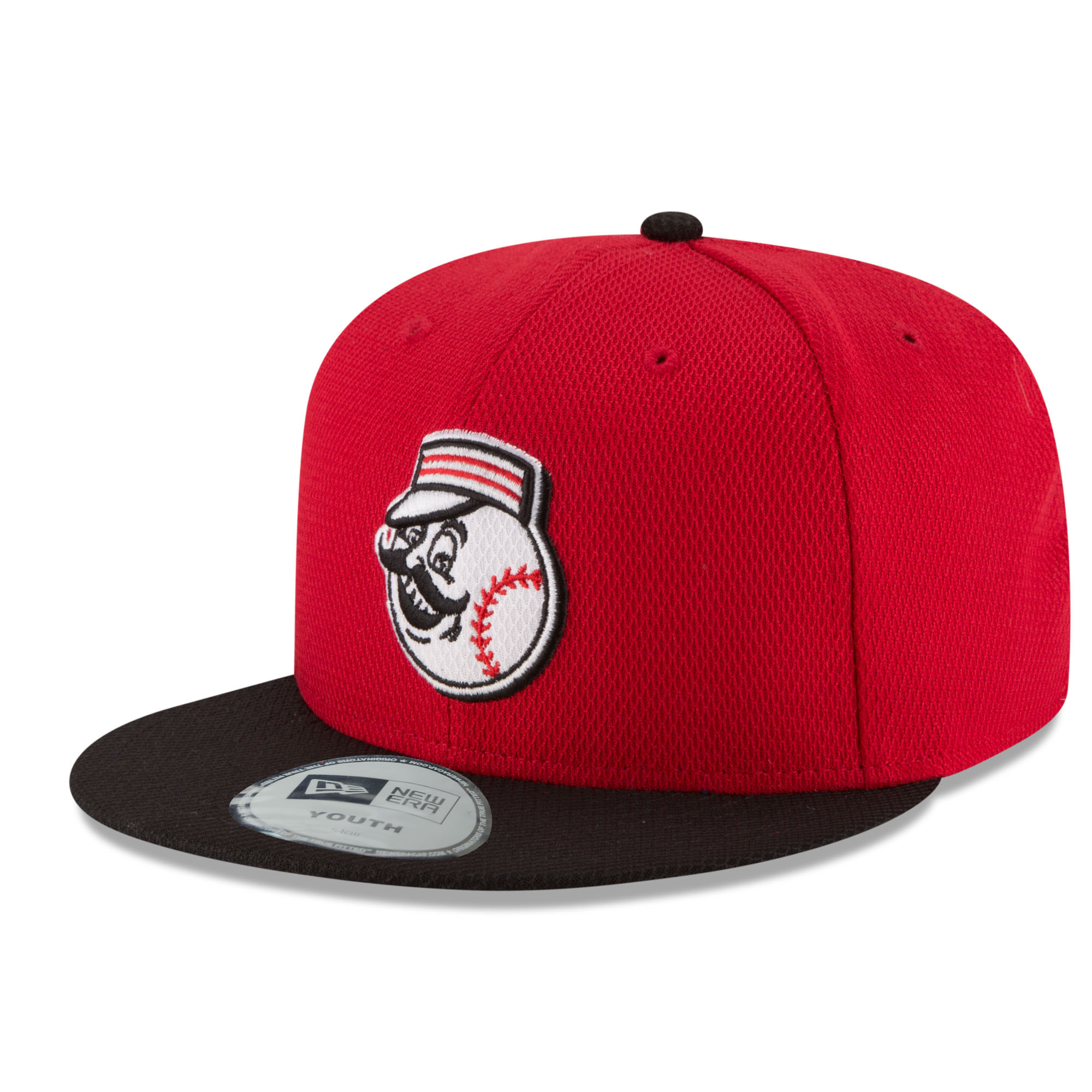 Cincinnati Reds New Era Youth Diamond Era 59FIFTY Fitted Hat - Red/Black