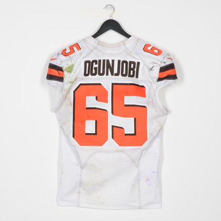 new concept 8ef6a c25a5 Larry Ogunjobi Cleveland Browns Game-Used White #65 Jersey vs. Baltimore  Ravens on December 30, 2018 - Fanatics Authentic Certified - Walmart.com