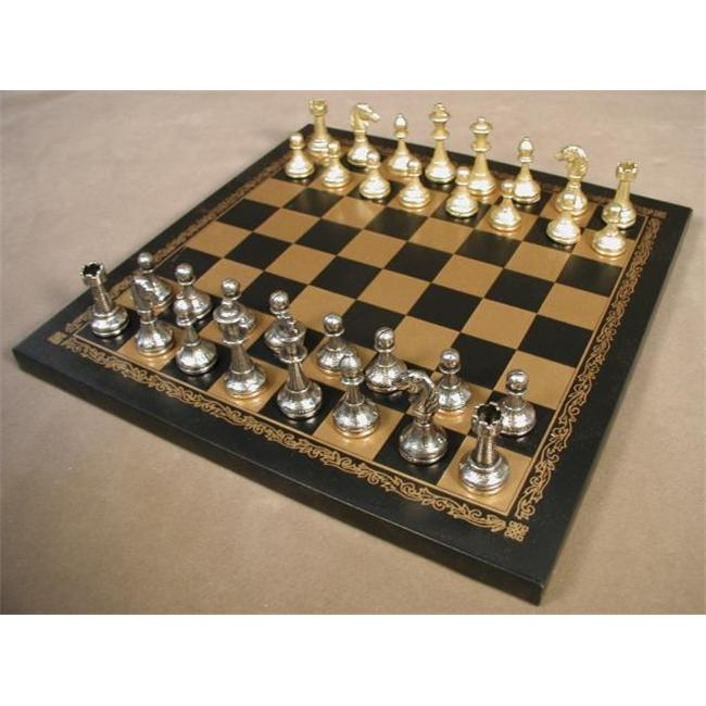 Ital Fama 65M-204GN Staunton Metal Chess Pieces