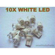 SmallAutoParts White T10 Led Bulbs - Set Of 10