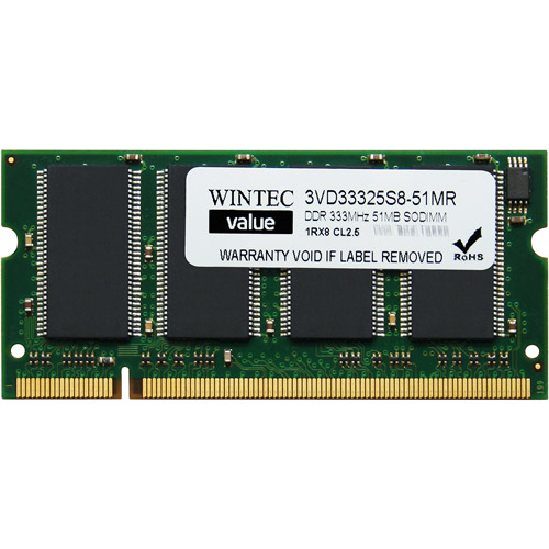 Wintec Value 512MB DDR PC2700 SO-DIMM Notebook Memory