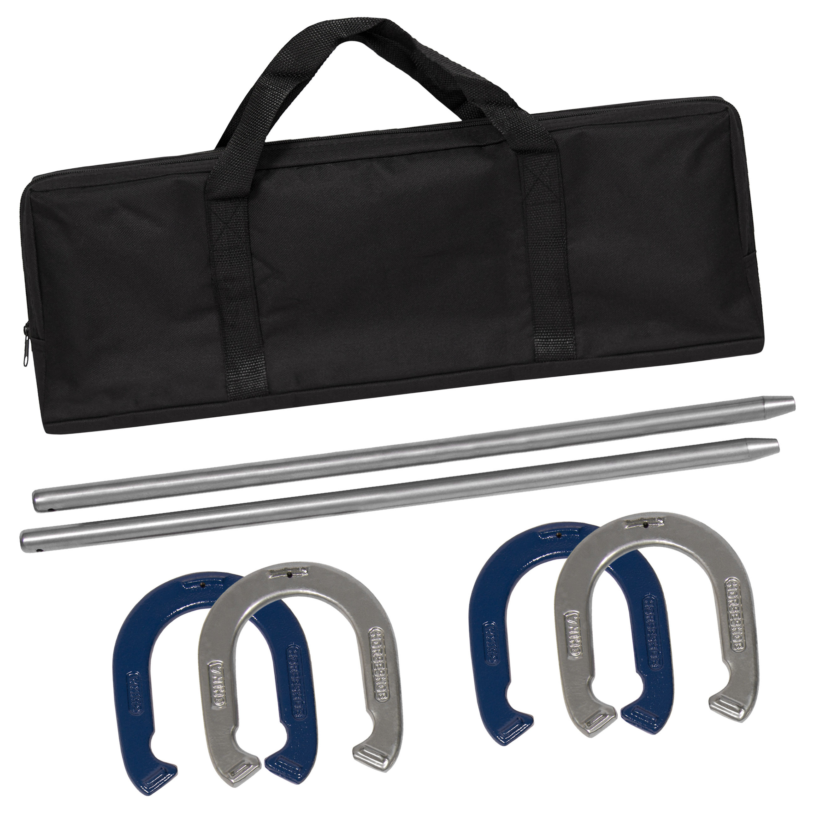 Best Choice Products Powder-Coated Steel Horseshoe Game Set w/ Carrying Case - Multicolor