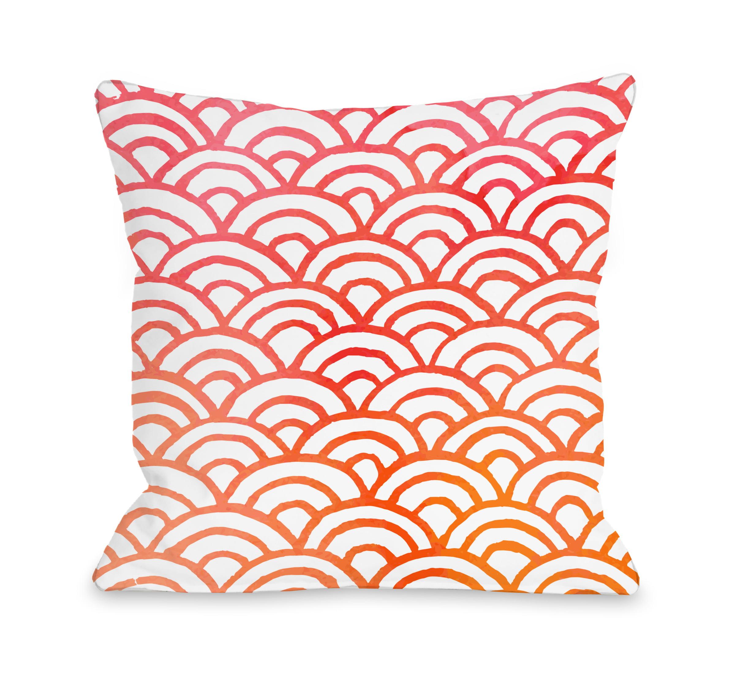Scallop Melon - Multi 18x18 Pillow by OBC