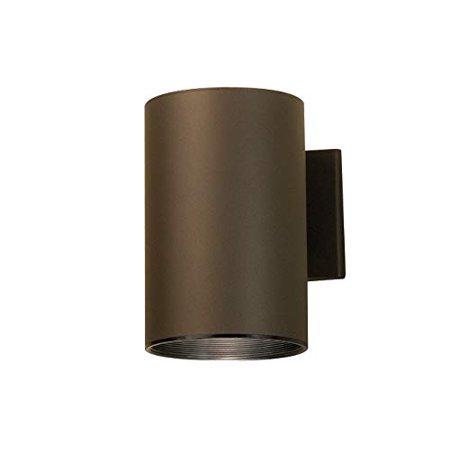 Kichler 9236AZ, 1 Light Outdoor Wall Cylinder, Architectural Bronze