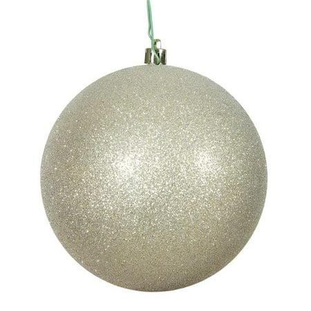 Vickerman N592538DG Champagne Glitter Drilled Cap Ball Ornament, 10 in. - image 1 de 1