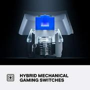 SteelSeries Apex 5 Hybrid Mechanical Gaming Keyboard – Per-Key RGB Illumination – Aircraft Grade Aluminum Alloy Frame –
