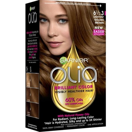 Garnier Olia Ammonia Free Hair Color 6 1 2 3 Lightest Golden Brown 1 Ea Pack Of 3