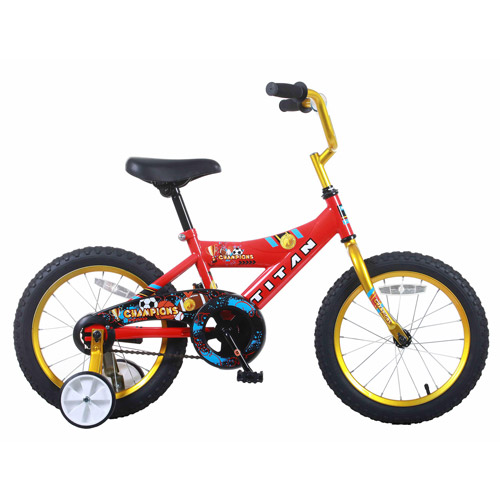 "16"" Titan Champions Boys' BMX Bike, Red and Gold"
