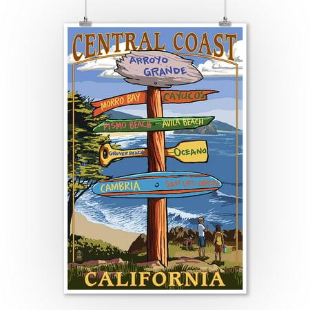 Arroyo Grande - Arroyo Grande, California - Destination Sign (Version 2) - Lantern Press Poster (9x12 Art Print, Wall Decor Travel Poster)