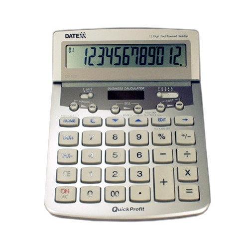 Datexx 12 dgt desktop with 100-entry Journal,Profit Analyst, Tax+ Tax-, Euro ...