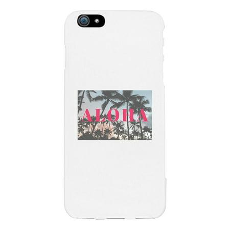 Aloha White Phone Case - Aloha Printing