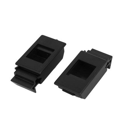 Window Cabinet Spring Loaded Inside Sliding Plastic Pull Latch Black 58x28x15mm ()