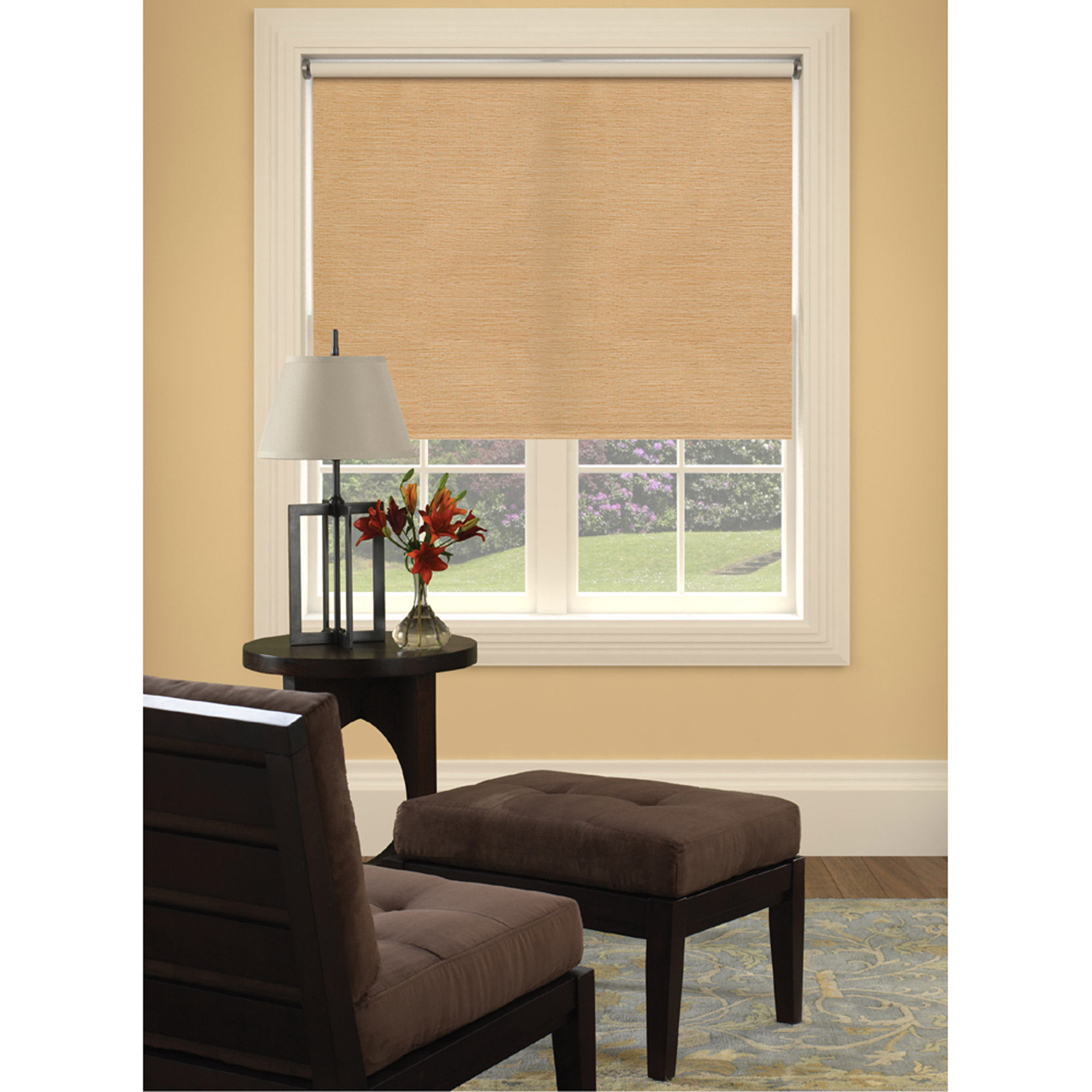 Bali Size-at-Home Vinyl Roller Shade, Reed Natural