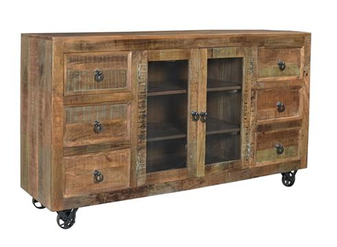 Coast To Coast Six Drawer Two Door Credenza 98244 by