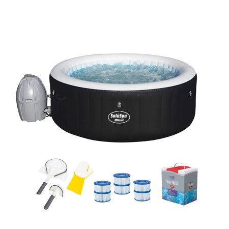 Image of Bestway Hot Tub, Filter Pump, Cleaning Tool & Sanitizer Kit