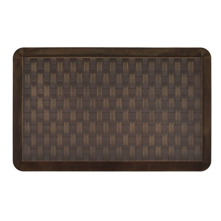 "Better Homes & Gardens Woven Basket Kitchen Mat, Oil Rubbed Brown-, 20"" x"