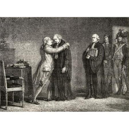 Posterazzi DPI1858175 The King Meets with De Malesherbes. Chrtien-Guillaume De Lamoignon De Poster Print, 17 x 13 - image 1 de 1