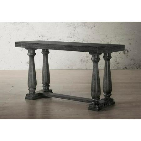 Best Master Furniture Katrina Weathered Oak Finish Wood Sofa