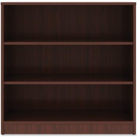 Lorell, LLR99781, Mahogany Laminate Bookcase, 1 Each, Mahogany