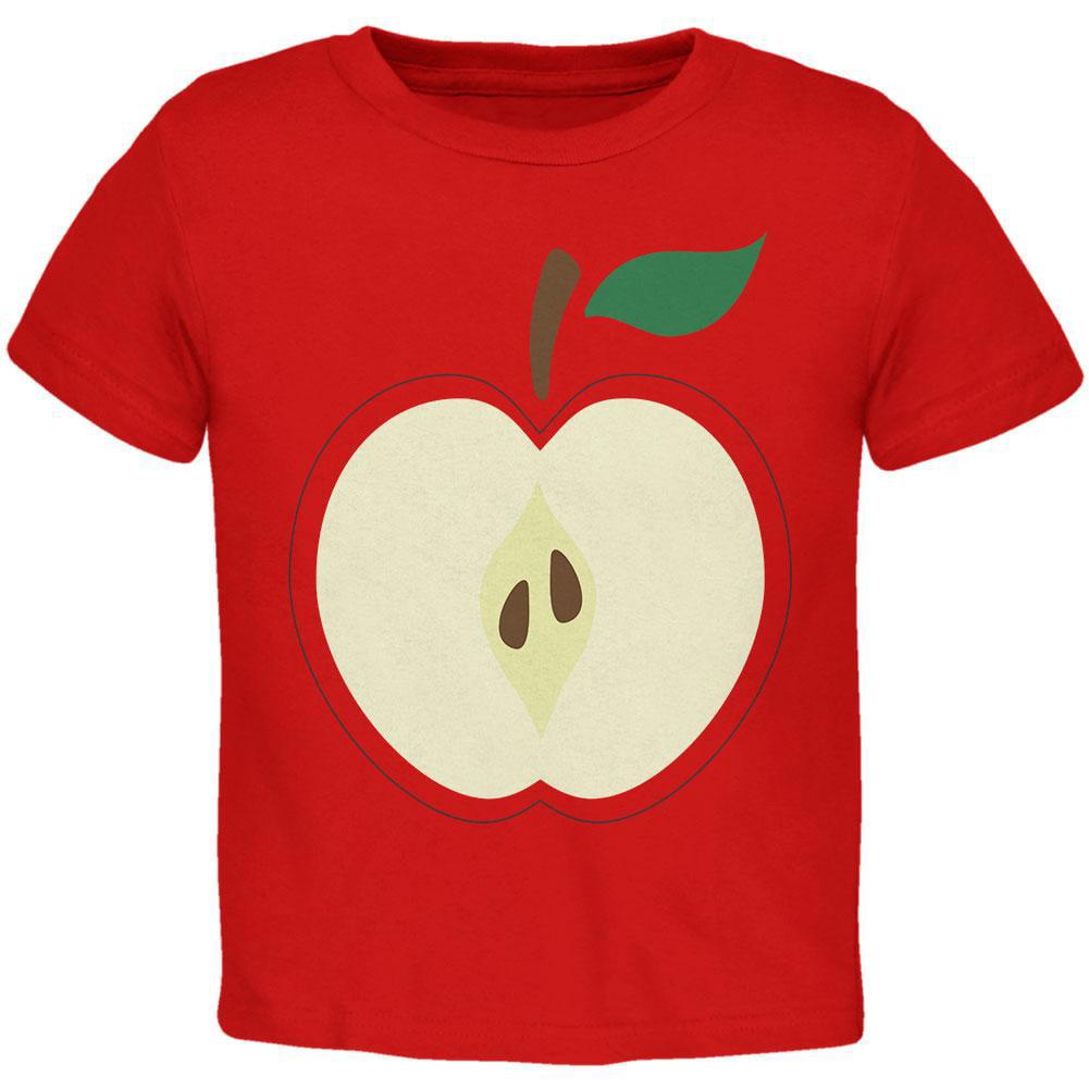 Halloween Apple Slice Costume Toddler T Shirt