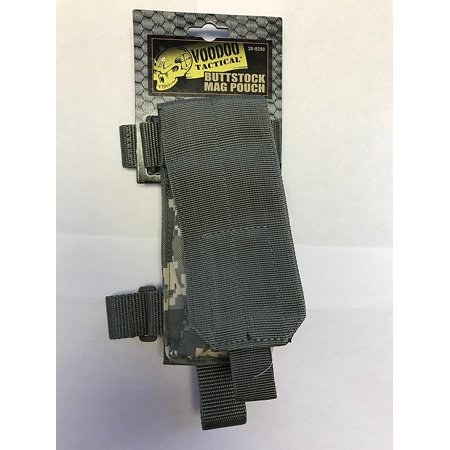 Buttstock Mag Holder -, Voodoo Tactical Buttstock Magazine Pouch - ACU By VooDoo Tactical