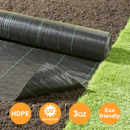- Agfabric Landscape Garden Mat - 5x16ft Heavy PP Woven Weed Barrier Fabric All Purpose Folded for Raised Bed,Soil Erosion Control and UV Resistant