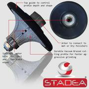 "stadea diamond profile wheels radius - half bullnose Grinding Shaping Demi 1 1/4"" Grinder Marble Tile Stone Concrete Profiling"