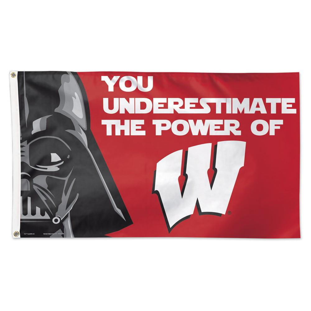 Wisconsin Badgers Star Wars 3' x 5' Deluxe Flag
