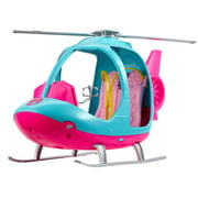 Barbie Estate Travel Pink and Blue Helicopter with Spinning Rotors