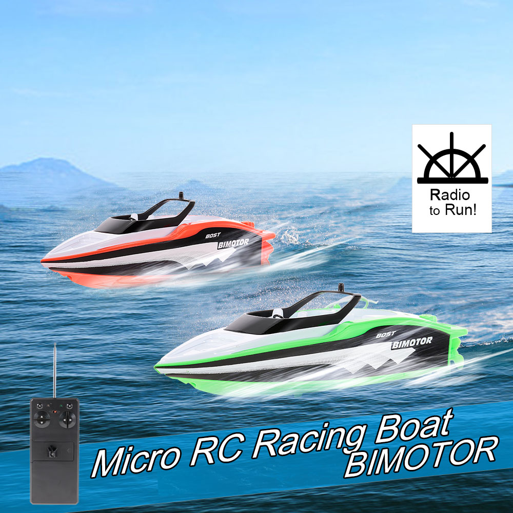 Create Toys 3392M Portable Micro RC Racing Boat Remote Control Speedboat Boy Gift Kid Toy