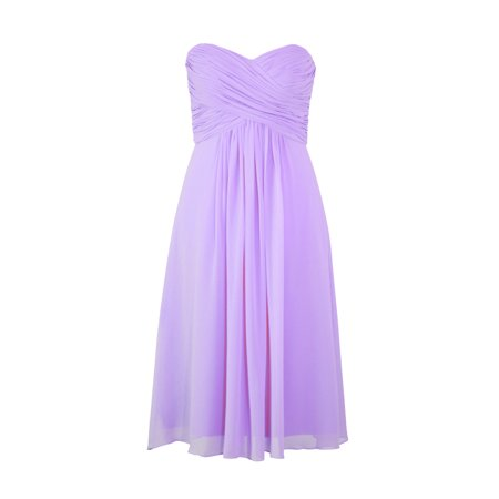 Faship Womens Elegant Strapless Pleated Sweetheart Neckline Formal Dress