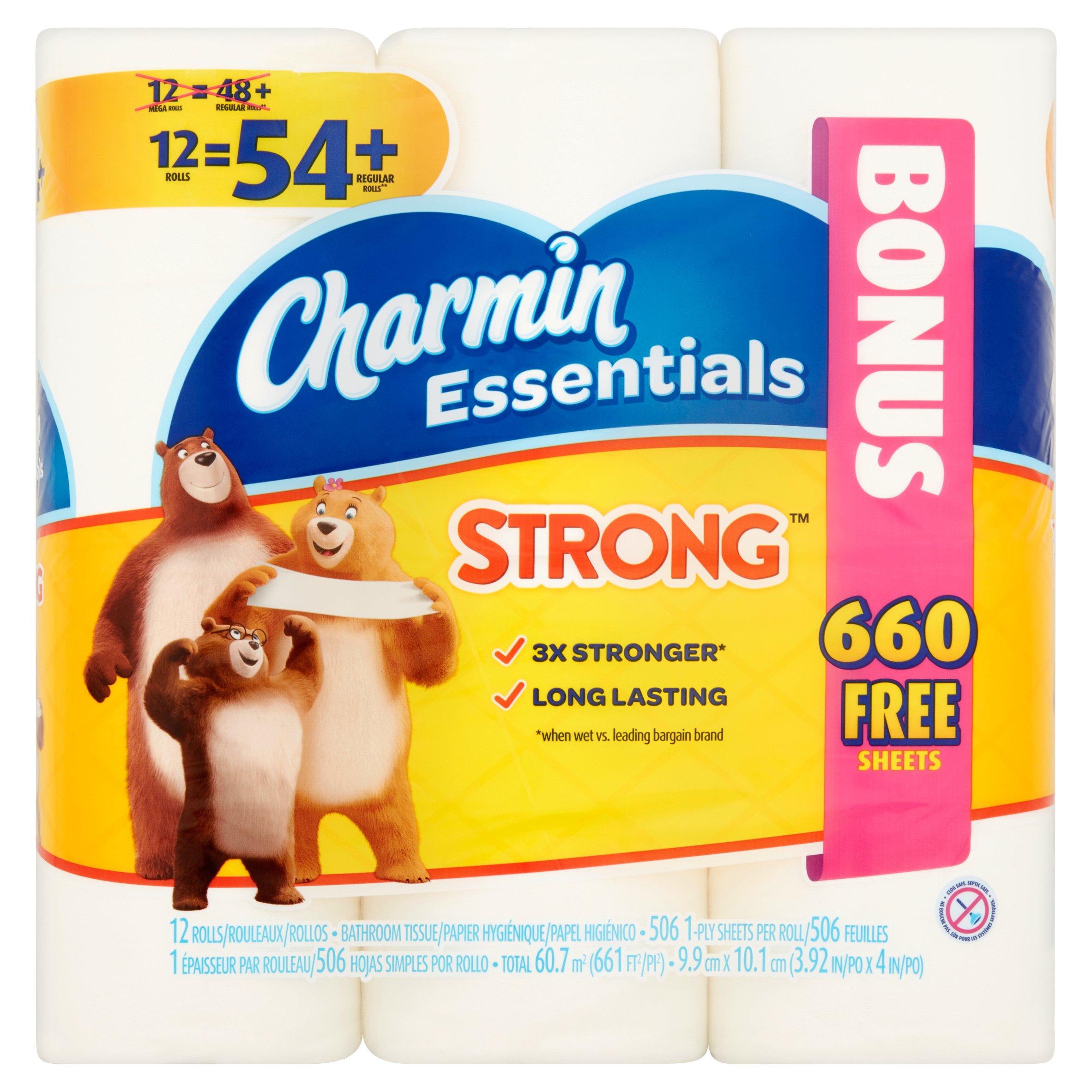 Charmin Bathroom Tissue charmin essentials strong bathroom tissue rolls, 12 count