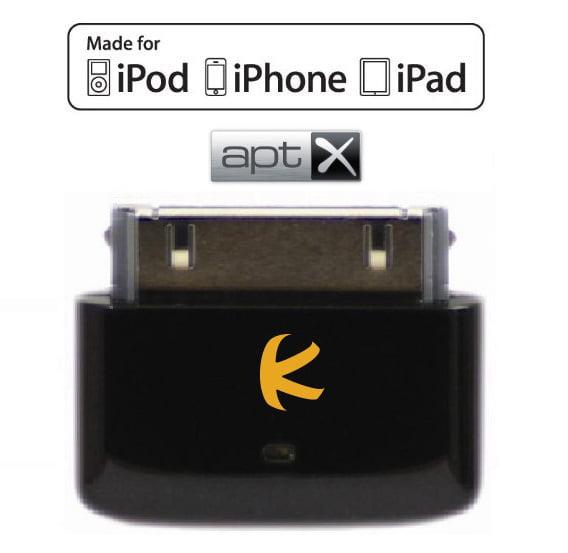 KOKKIA i10s_aptX_black (Black) : Tiny Bluetooth iPod Transmitter with aptX for iPod/iPhone/iPad
