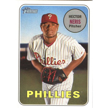 2018 Topps Heritage 184 Hector Neris Philadelphia Phillies Baseball Card