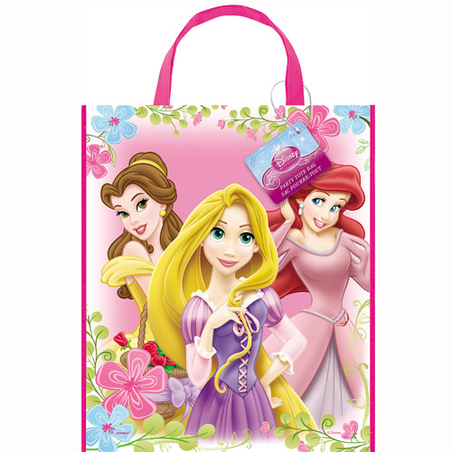 "Large Plastic Disney Princess Favor Bag, 13"" x 11"""