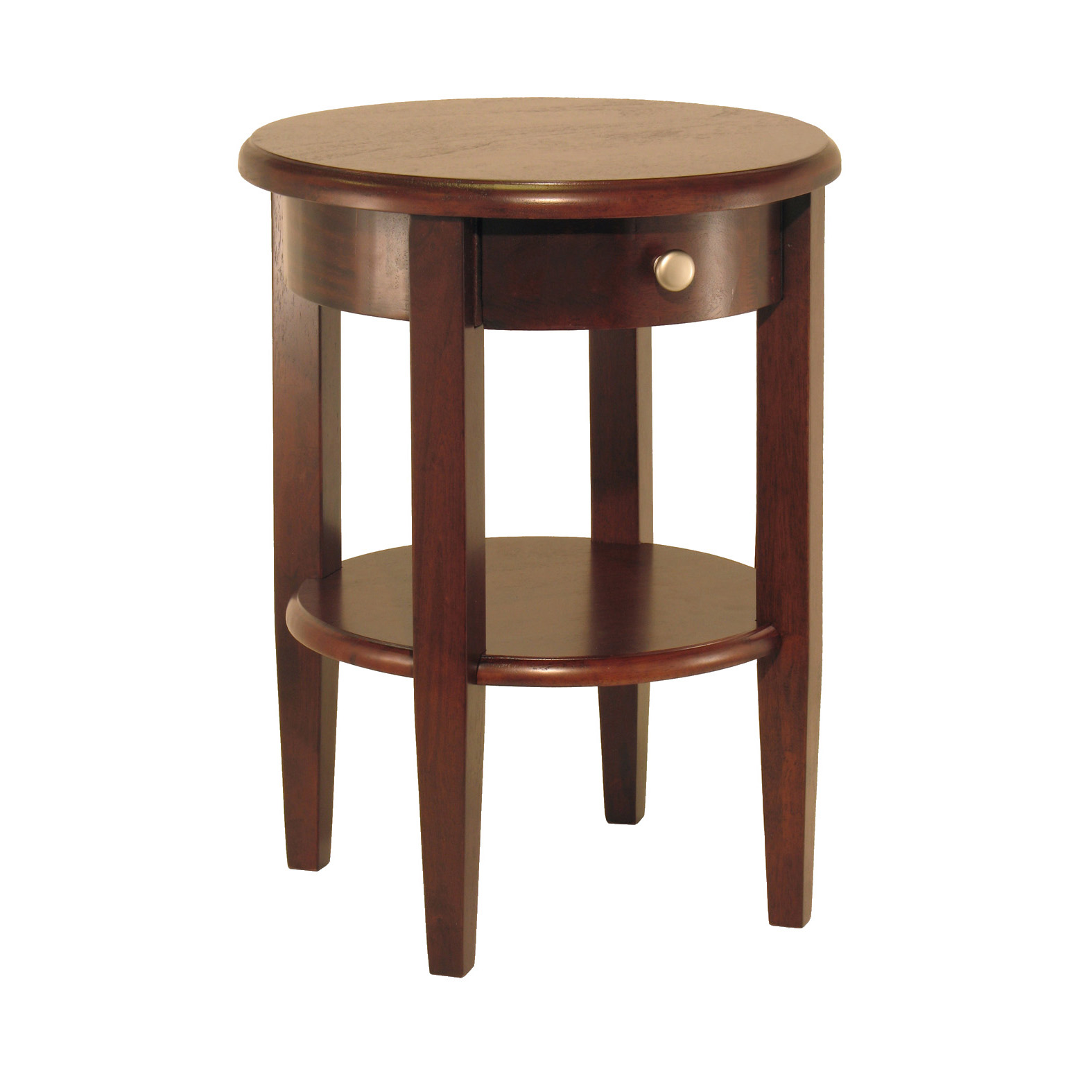 Winsome Wood Concord Accent Table w/ Drawer and Shelf, Walnut Finish