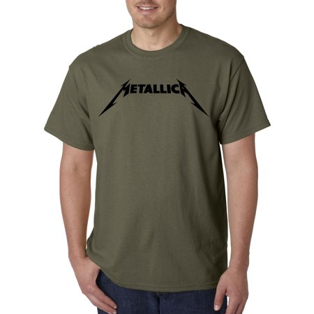 Trendy USA 778 - Unisex T-Shirt Metallica Beavis Butt-Head Parody Logo 4XL Military (Metallica Jump In The Fire T Shirt)