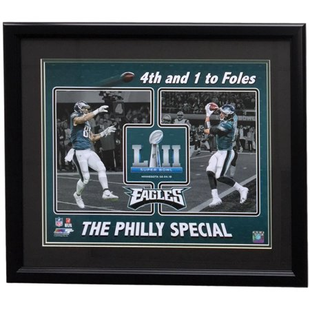 Trey Burton Nick Foles Framed 16X20 Eagles Super Bowl 52 Philly Special Photo