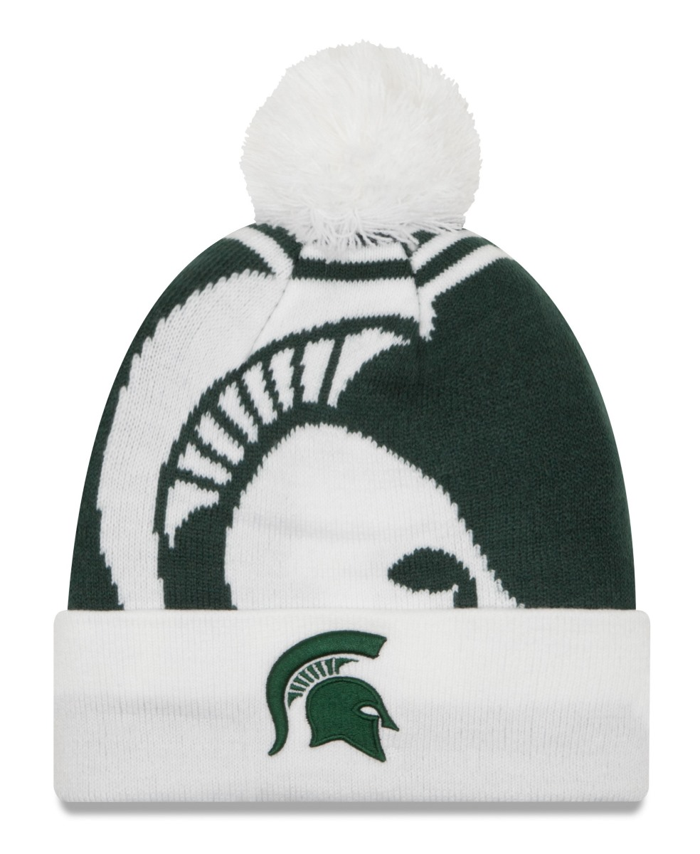 "Michigan State Spartans New Era NCAA ""Logo Whiz 2"" Cuffed Knit Hat with Pom by New Era"