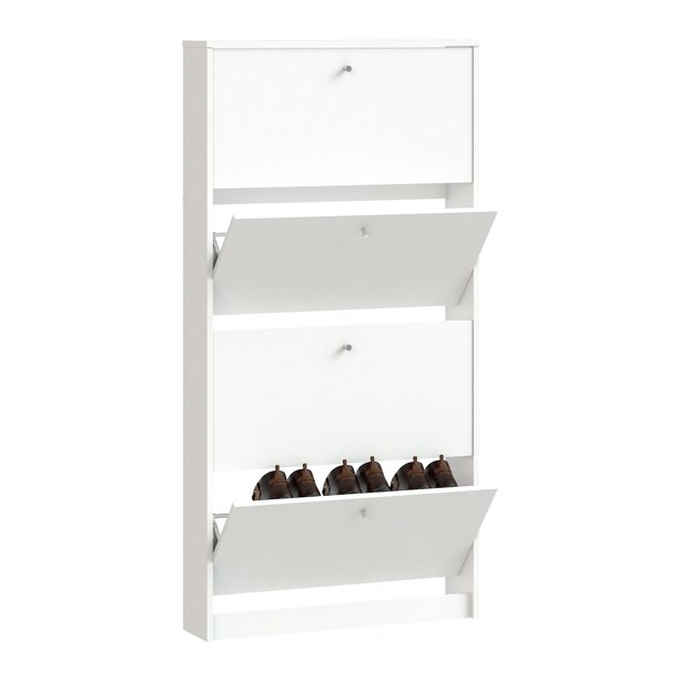 Tvilum Bright 4 Drawer Shoe Cabinet