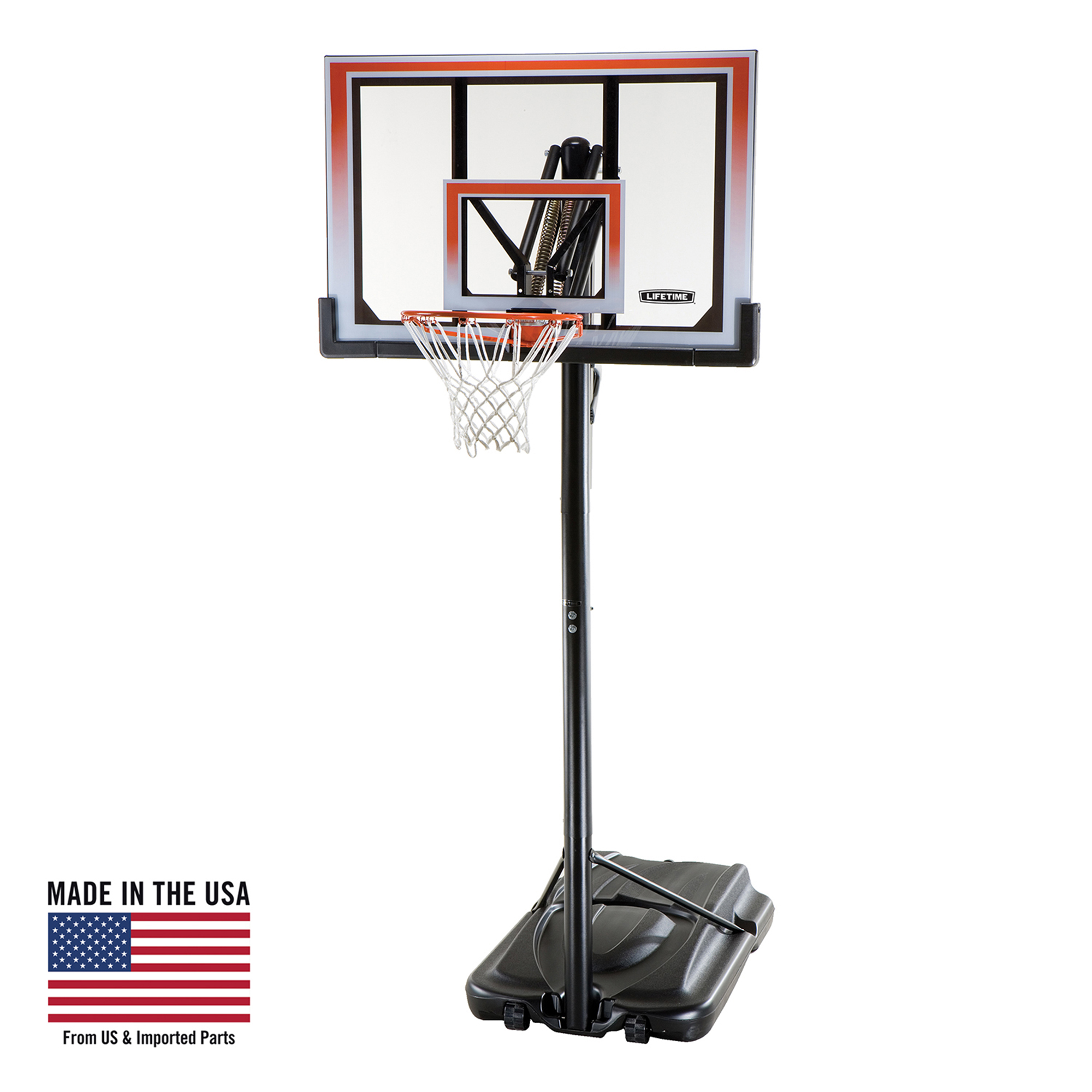 "Lifetime 50"" Shatterbroof Portable One Hand Height Adjustable Basketball system, 71566"