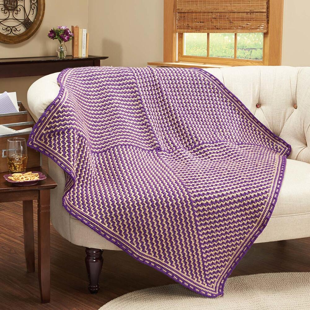 Herrschners  Regal Zigzag Crochet Afghan Kit