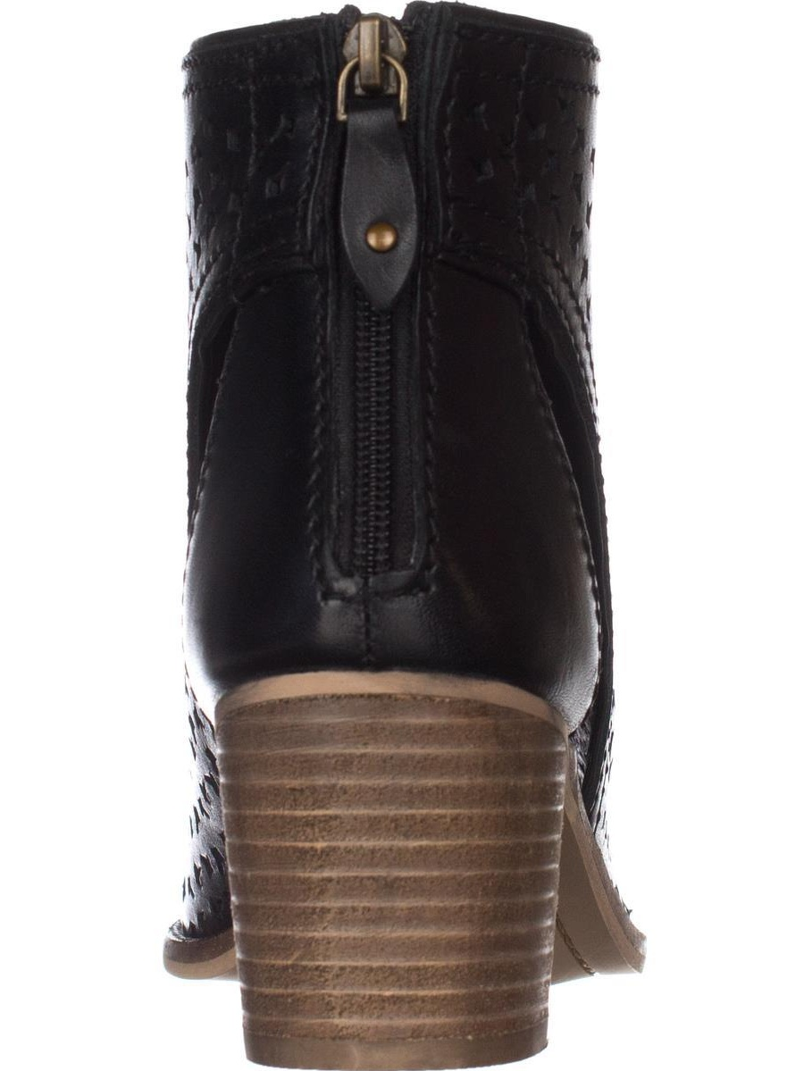 Womens Kelsi Dagger Gateway Bootie Sandals, Black Leather, 9.5 US / 40 EU